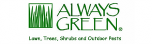 Always Green logo stands for Landscape Care services in Tampa Bay for fertilization, weed control, disease control and pest control for lawns, trees,or shrubs