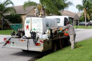 always green technician deliver lawn care services